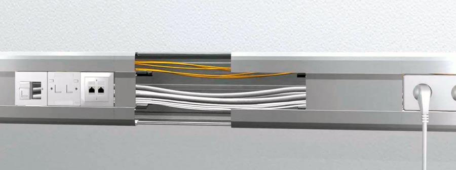 прокладка кабеля в кабель канале